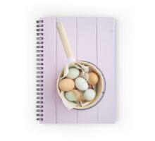 Organic eggs from Easter egger chicken Spiral Notebook