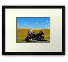 Cavalcade and Wind Mills Framed Print