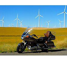 Cavalcade and Wind Mills Photographic Print
