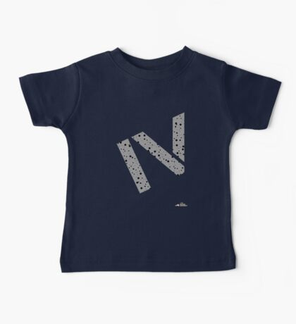 Cement splatter Roman numeral 4 T-shirt Baby Tee