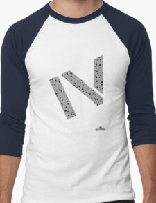 Cement splatter Roman numeral 4 T-shirt Men's Baseball ¾ T-Shirt
