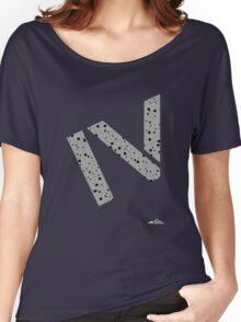 Cement splatter Roman numeral 4 T-shirt Women's Relaxed Fit T-Shirt