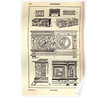 A Handbook Of Ornament With Three Hundred Plates Franz Sales Meyer 1896 0468 Furniture Chest Poster