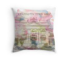 Kensington town Hall water colour Throw Pillow