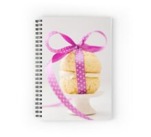 Whoopie Pie In Pink Bow Spiral Notebook