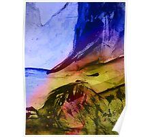 blue cliff coastline #2... Poster