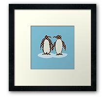 Best Friend Penguins Framed Print