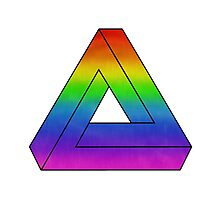 Rainbow Penrose Triangle Art Photographic Print