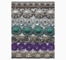 Vintage Bling, Silver, Turquoise, Pearl and Purple Kids Clothes
