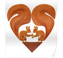 Squirrel Lovers Poster