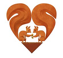 Squirrel Lovers Photographic Print