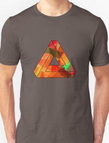 Red Penrose Triangle Polygon Art Unisex T-Shirt