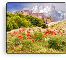 Gathering clouds over Bamburgh Canvas Print