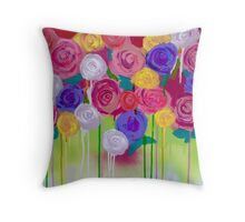 Chantilly (cropped detail) Throw Pillow