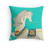 Dancing Horse Throw Pillow