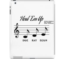 Heat Em Up Sheet Music (Ghostbusters) iPad Case/Skin