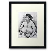 Terry sitting front view Framed Print