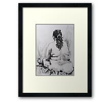 Terry sitting back view Framed Print