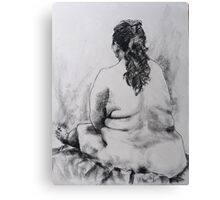 Terry sitting back view Canvas Print
