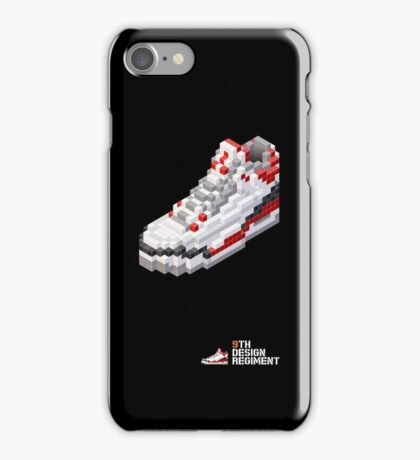 3D 8-bit basketball shoe 3 iPhone Case/Skin