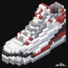 3D 8-bit basketball shoe 3 by 9thDesignRgmt