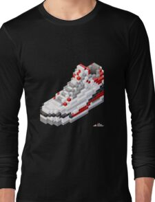 3D 8-bit basketball shoe 3 Long Sleeve T-Shirt