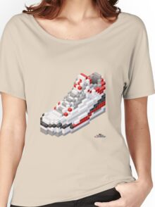 3D 8-bit basketball shoe 3 Women's Relaxed Fit T-Shirt