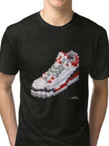 3D 8-bit basketball shoe 3 Tri-blend T-Shirt