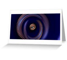 Blue Eyed Illusion Greeting Card