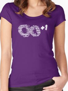 Powers Cosmic - Infinity Plus One Women's Fitted Scoop T-Shirt