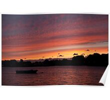 Sunset over Greenwich Poster