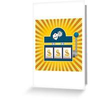Slot Machine Greeting Card