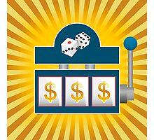 Slot Machine Photographic Print