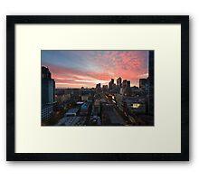 Sunrise on La Trobe Framed Print