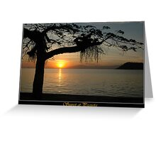 Sunset at Paqueta Greeting Card