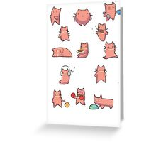 Happy Cats Greeting Card