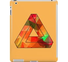 Red Penrose Triangle Polygon Art iPad Case/Skin