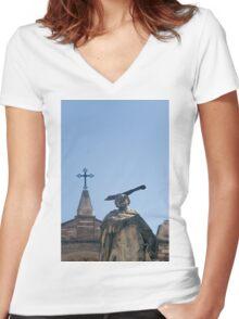 Saint Peter of Verona  Women's Fitted V-Neck T-Shirt