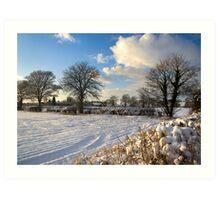 Sparkling snow scene Art Print