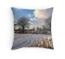 Sparkling snow scene Throw Pillow