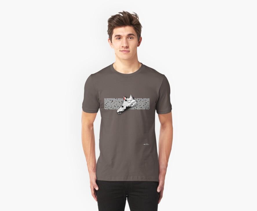 8-bit basketball shoe 4 T-shirt by 9thDesignRgmt