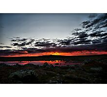 Sunset In Hardanger Photographic Print