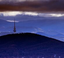 Stormy skies over Canberra by Peter Doré