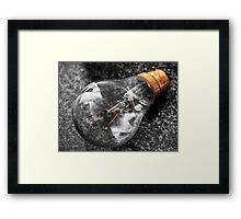 Lightbulb (HDR using Photomatix) Framed Print