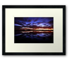 A Rush and a Push Framed Print
