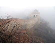 China - The Great Wall in the mist. Photographic Print