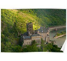 Burg Katz am Rhein Poster