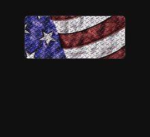 Diamond Plate American Flag Men's Baseball ¾ T-Shirt