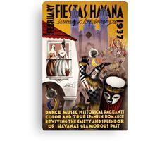 February fiestas in Havana Vintage Poster Canvas Print