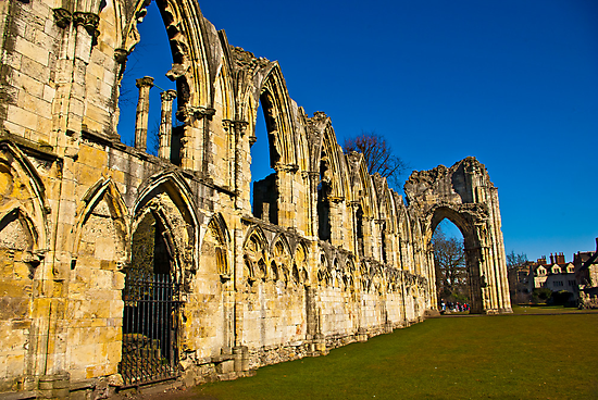 Ruins of St Mary's Abbey  -  York #3 by Trevor Kersley